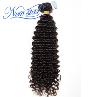 New Star Hair Afro Brazilian Deep Curly Virgin Human Hair Wave 1/3/4 Bundles Natural Black Color 100% Unprocessed Hair Weaving