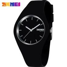 Femmes montres SKMEI marque de mode sport quartz montre gris blanc noir rouge 30 M étanche Reloj Mujer Montre Femme en caoutchouc bande