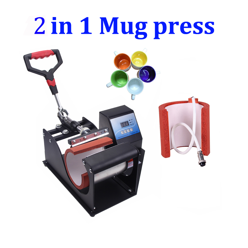 digital sublimation mug printer combo 2 in 1 portable digital mug heat press machine cup heat. Black Bedroom Furniture Sets. Home Design Ideas