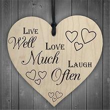Жизнь хорошо люблю много смеяться часто деревянные в форме сердца