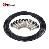Black DIY Guitar Pedal Patch Cable Solder free Pedal Board Copper Cable Kit 10ft 10 Strait Audio 6.35 Plugs For Guitar Pedal