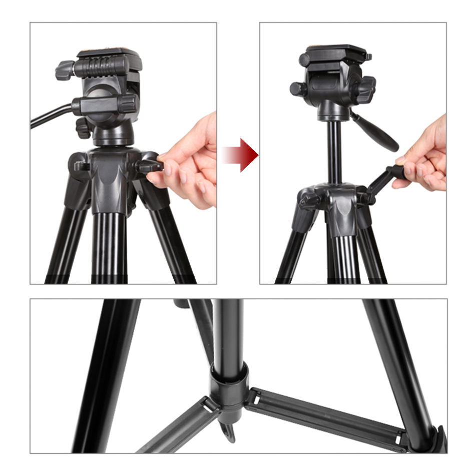 Voor Digitale SLRC Camera Video Outdoor Filmen Licht Draagbare Aluminium Statief CD50 - 6