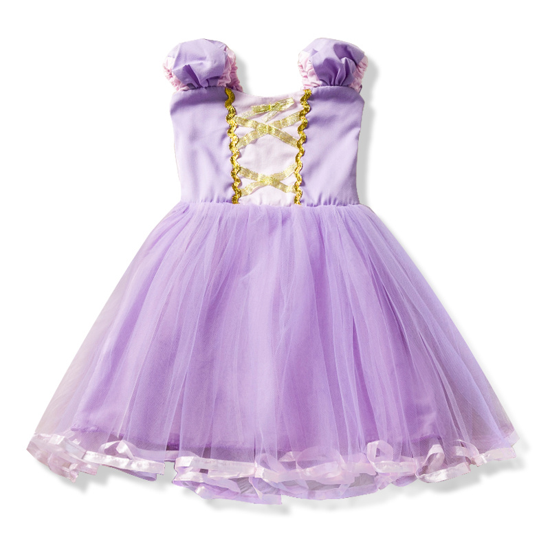 Été Pourpre Tutu Dentelle Robe pour bébé filles avec Arc 2 4 6 T Enfant Pour Licorne Partie D'anniversaire De Mariage Événement robe de Bal vêtements