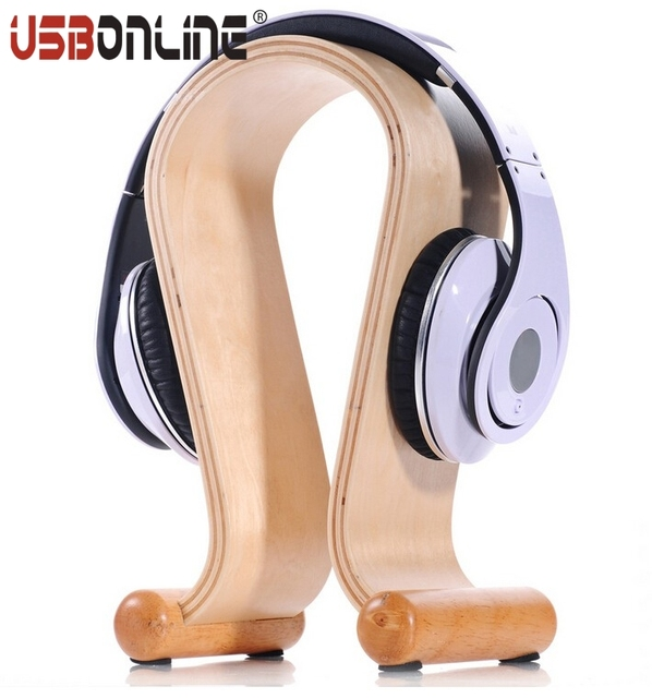 Original Samdi Durable Wooden Gaming Headset Display Stand Birch Wood Headphone Holder Hanger High Quality - Package