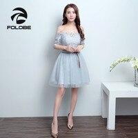 FOLOBE Vintage 6 Styles Light Grey Tulle Sleeveless Sash Lace Dresses Women Girls Dress Formal Dresses