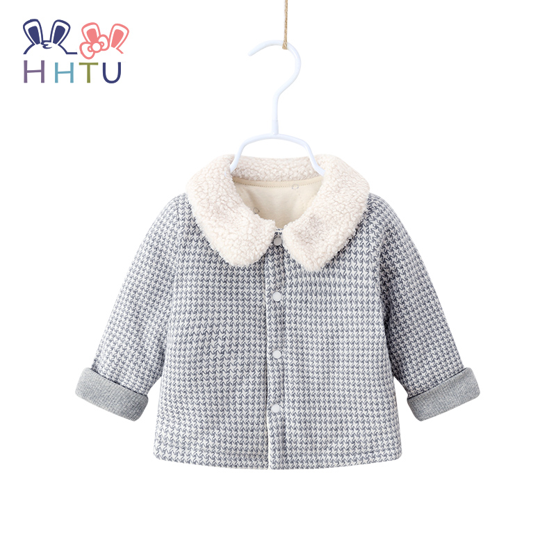 HHTU Baby Plaid Coat Cotton Thick Warm Baby Boys Girls Clothes Winter Casual Jacket Children 39 s Thickening Clothing Outerwear in Down amp Parkas from Mother amp Kids