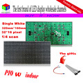 P10 1/4 scan  single white semi outdoor  led module  for DIP p10 Indoor  advertising media LED Display