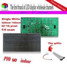 P10 1/4 сканирования одинокая белая полу-открытых из светодиодов модуль для dip-p10 внутренняя реклама сми из светодиодов дисплей