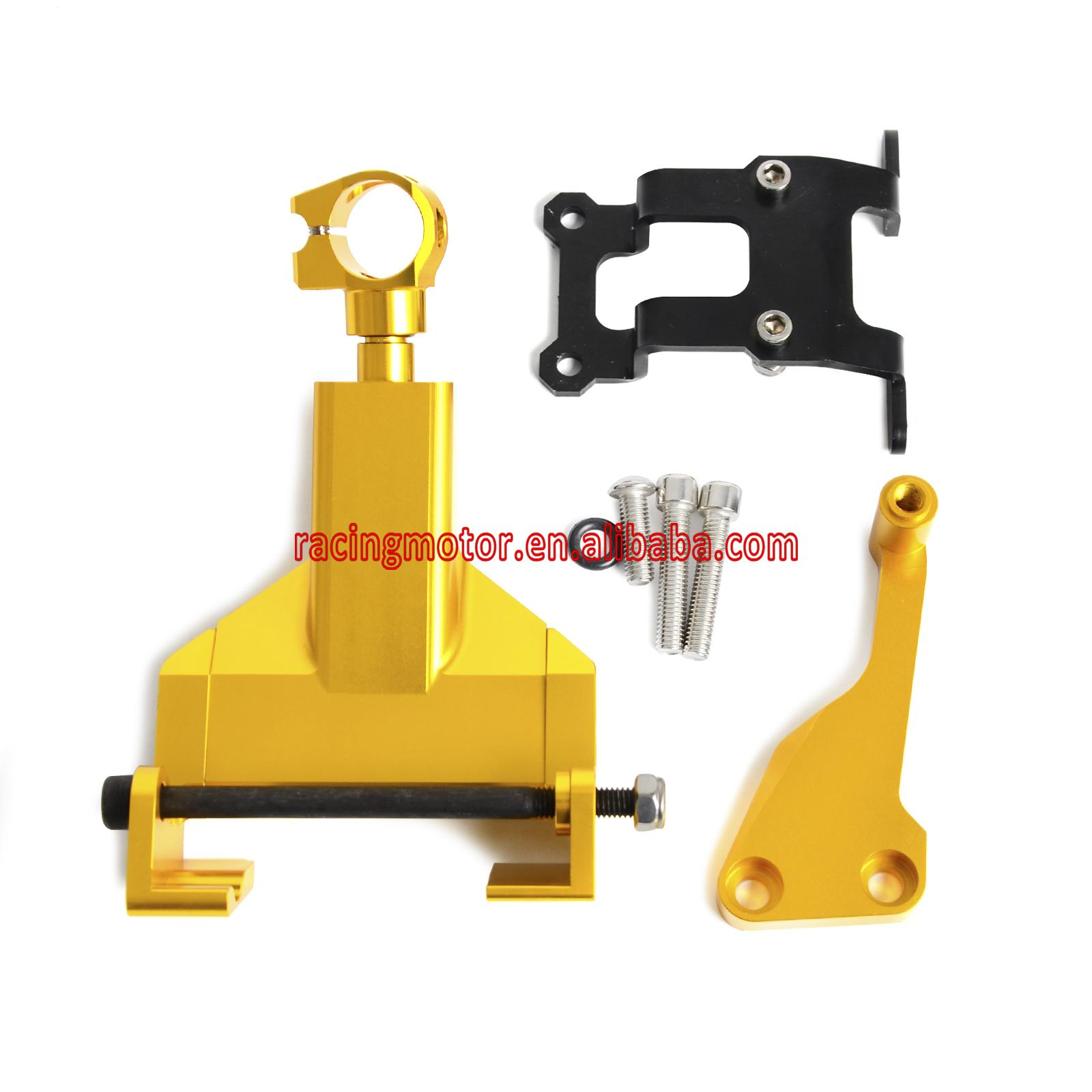 ФОТО Gold Motorcycle Stablizer Damper Mounting Bracket Kit For Yamaha MT-07 MT07 MOTO CAGE 2014 2015 2016