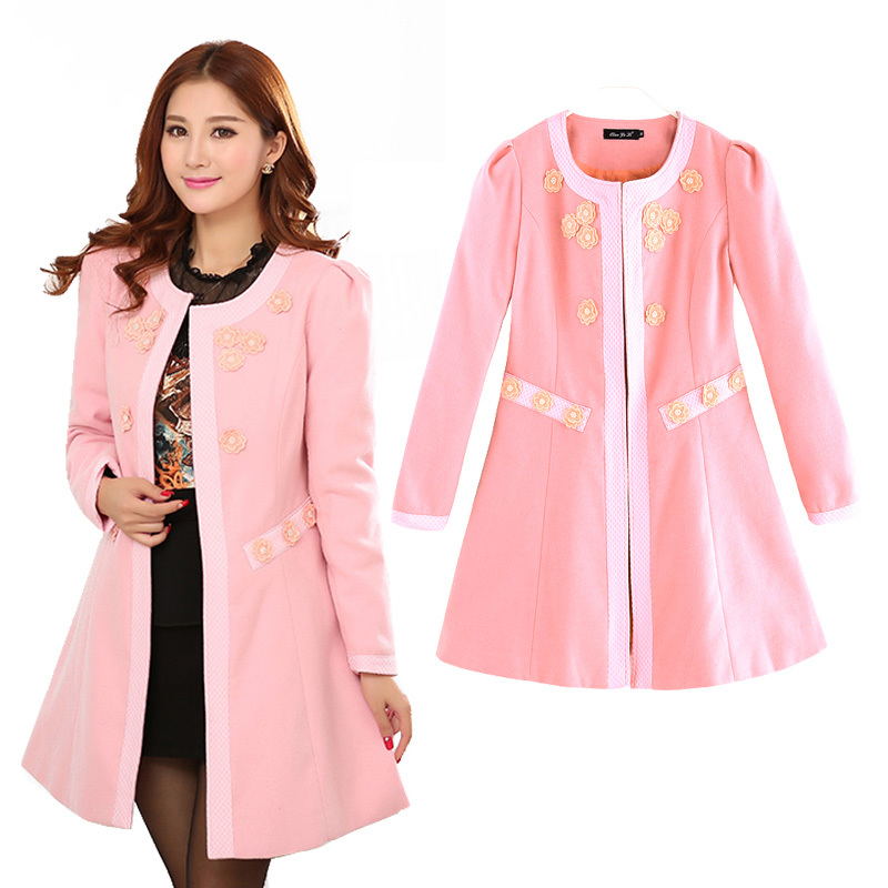 Ladies Pink Winter Coats L7otg6