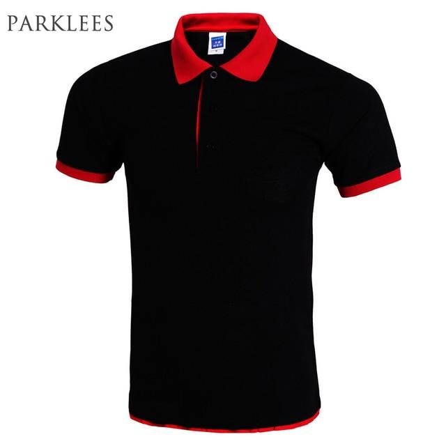 d01388002e626 Cool Camisa Pólo Homens Polo Homme Marca Projeto Gola Dupla Cor Sólida Camisas  Pólo Verão Estilo