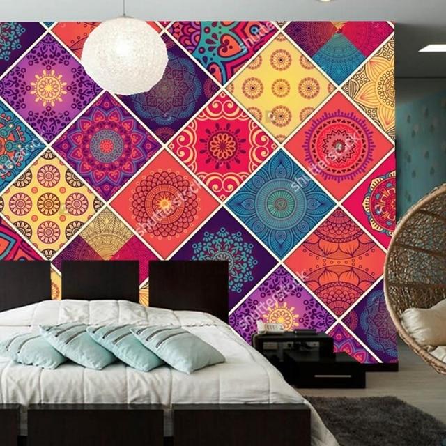 Custom Retro Pattern Wallpaper,Vintage Decorative Elements,3D Murals For Living  Room Bedroom Store