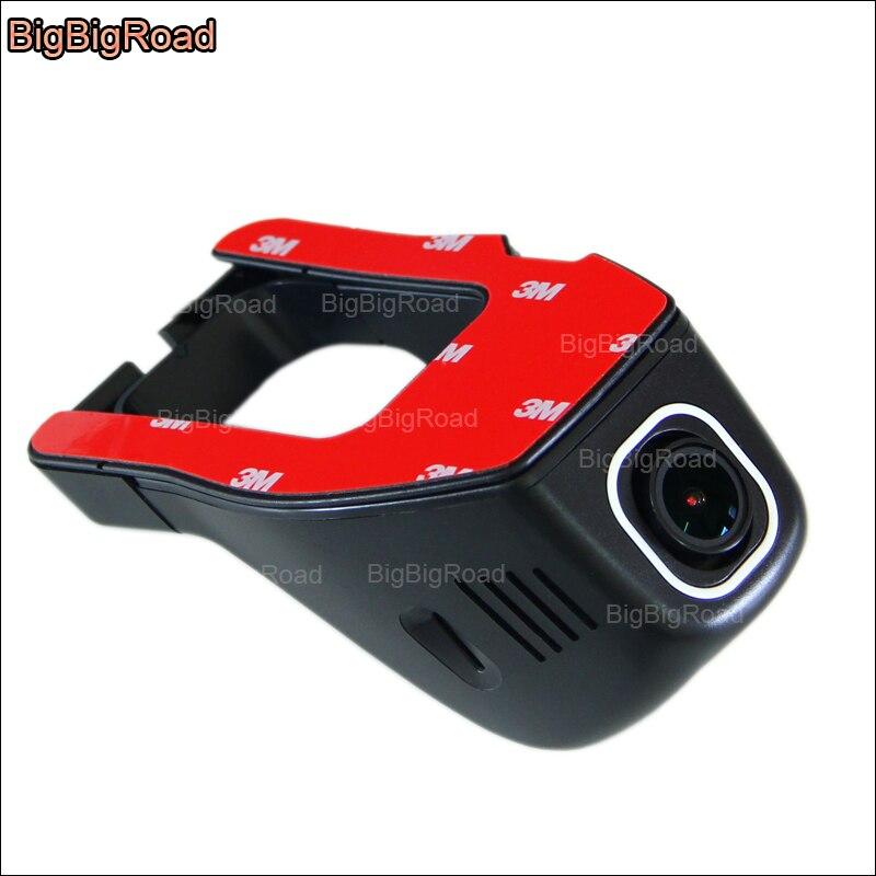 BigBigRoad для Mitsubishi Outlander EX автомобильный wifi DVR видеорегистратор Novatek 96655 Автомобильный видеорегистратор Передняя камера