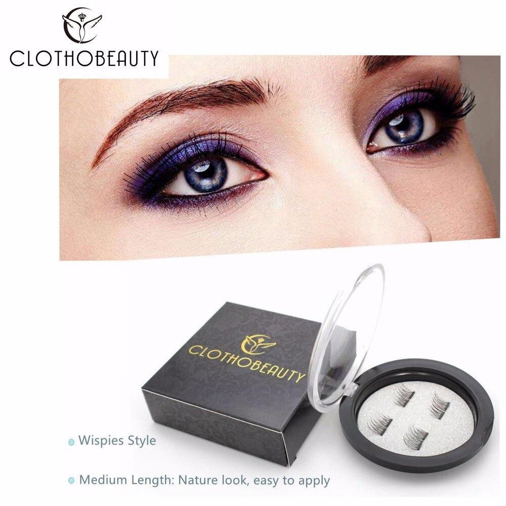 CLOTHOBEAUTY False MAGNETIC Eyelashes, Half Cover Dual Magnets, No Glue, Fake Lashes Extension, Natural Reusable Handmade(MA-02)