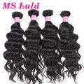 Free shipping Indian virgin hair natural wave 100 human hair wavy 4pcs lot  top quality no tangle no shedding Ms Lula hair