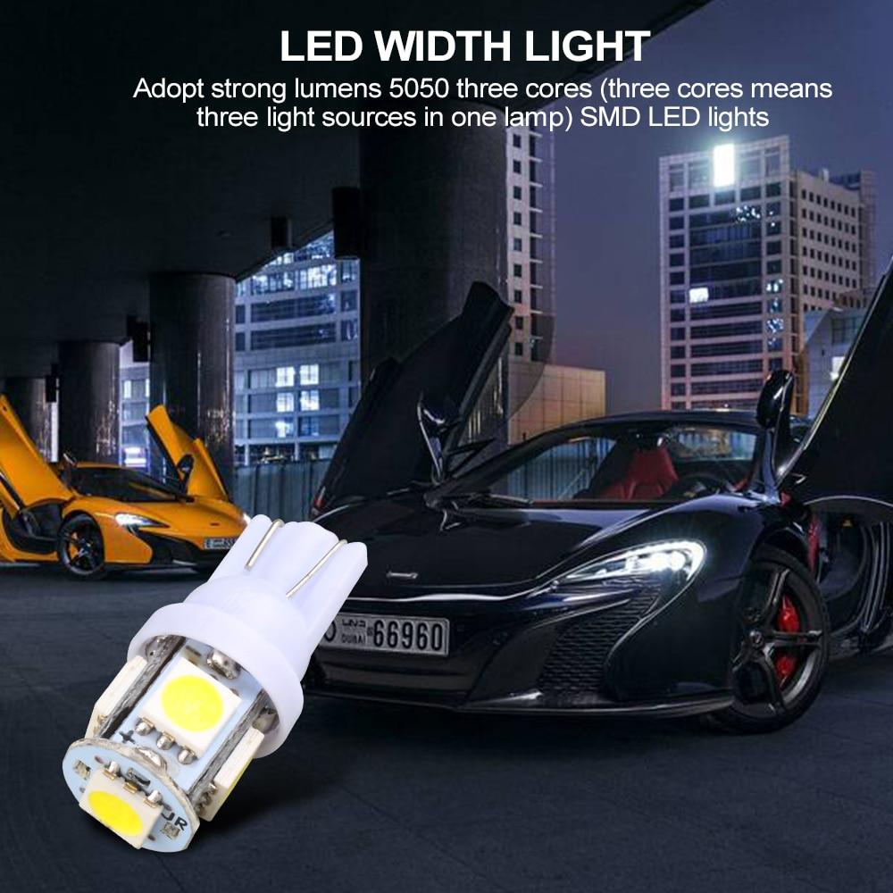 10pcs/lot Led  Lights DC 12v Lampada Light 5050  Led Parking Bulb Auto Wedge Clearance Lamp HB