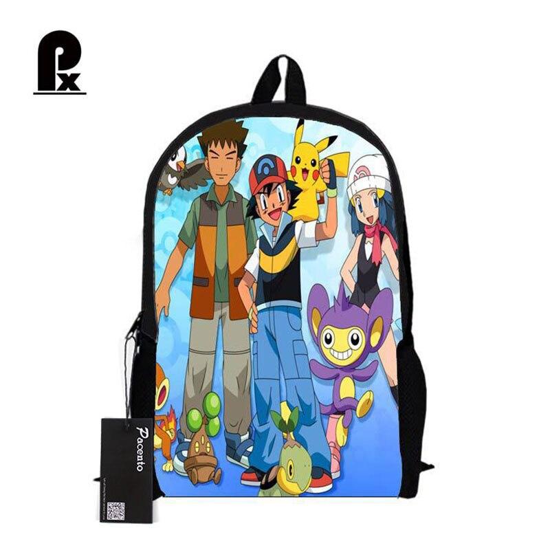 Покемон рюкзак pikacun студентов Школьные ранцы для Обувь для мальчиков и для девочек студент Сумки Cartera Mochila Escolar ежедневно Сумки Mochila Infantil