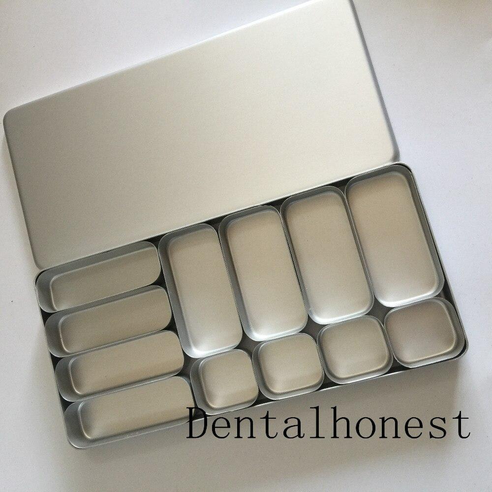 new Dental Disinfection Endo Box for Bur H K File Block Holder Sterilizer Case sale dental lab bur h k file holder block sterilizer case disinfection endo box set
