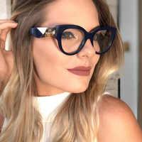 Frau Acetat Optische Brillen Mode Oversize Big Rim Rahmen Brille für Frauen Rezept Brillen Gläser Rahmen