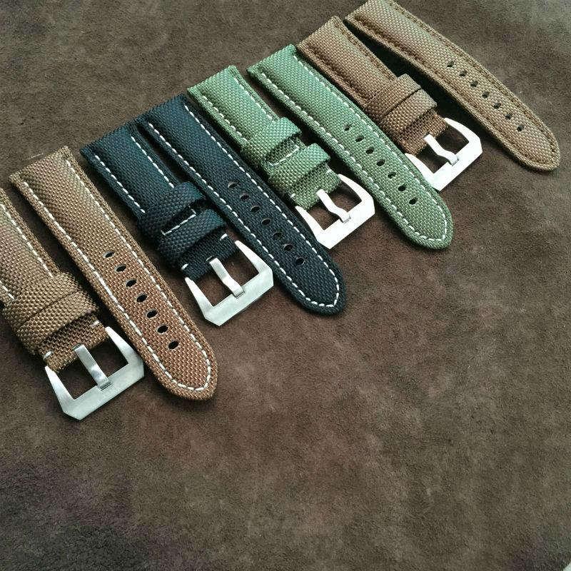 цена  24mm 26mm Watchband  Strong  For NATO  Wrist Army Nylon Watch Strap Band 20 mm Belt Retro Classic male models strap  онлайн в 2017 году