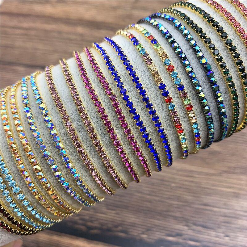 1 Pcs Rhinestone Bracelets Dainty Stacked Bracelets Elastic Bracelets for Women Bracelets
