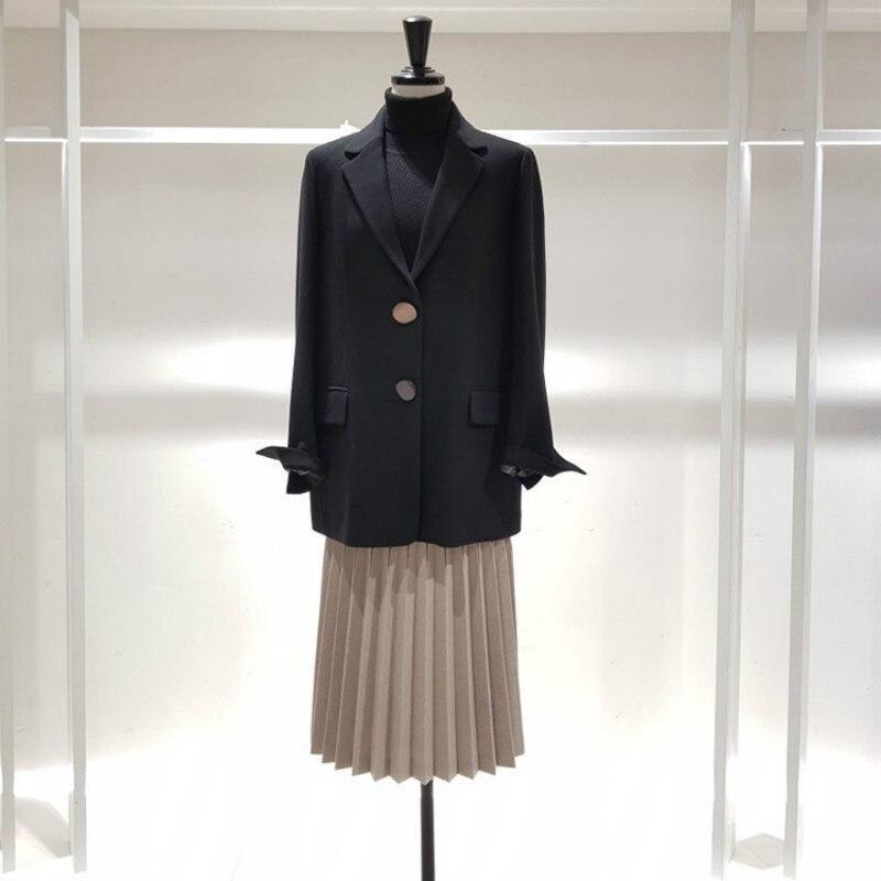 d99733c5c7 Blazer Camel Simple Mode Printemps Pour Et Petite Coréenne Veste Autuml De  Avec Nouvelle Décontracté 2019 Rangée Femmes Lâche black Bouton Costume ...