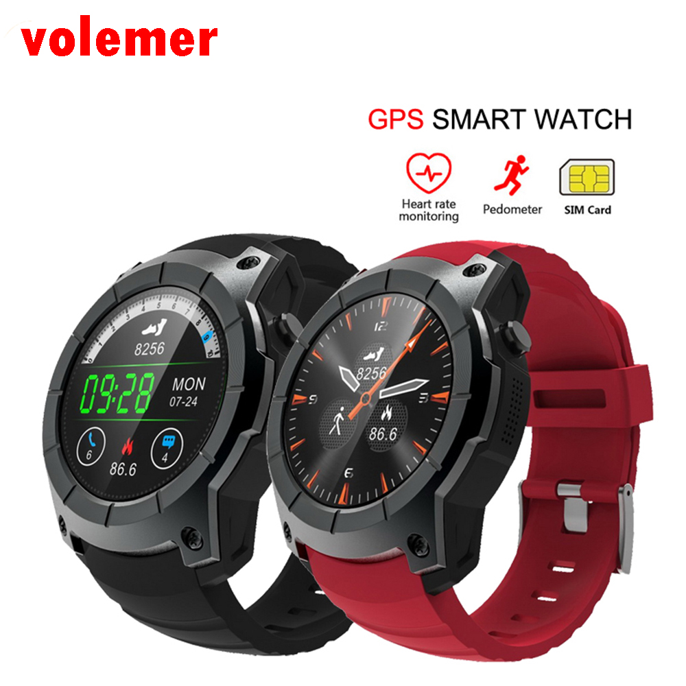 volemer S958 GPS Sports Pedometer Smart Watch MTK2503 Heart Rate Monitor Multi-sport Model Smart Watch support Sim TF card G05 обогреватель aeg wkl 2503 s wkl 2503 s