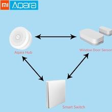 Оригинальная интеллектуальная посылка Xiao mi Aqara работает с приложением mi jia mi Home