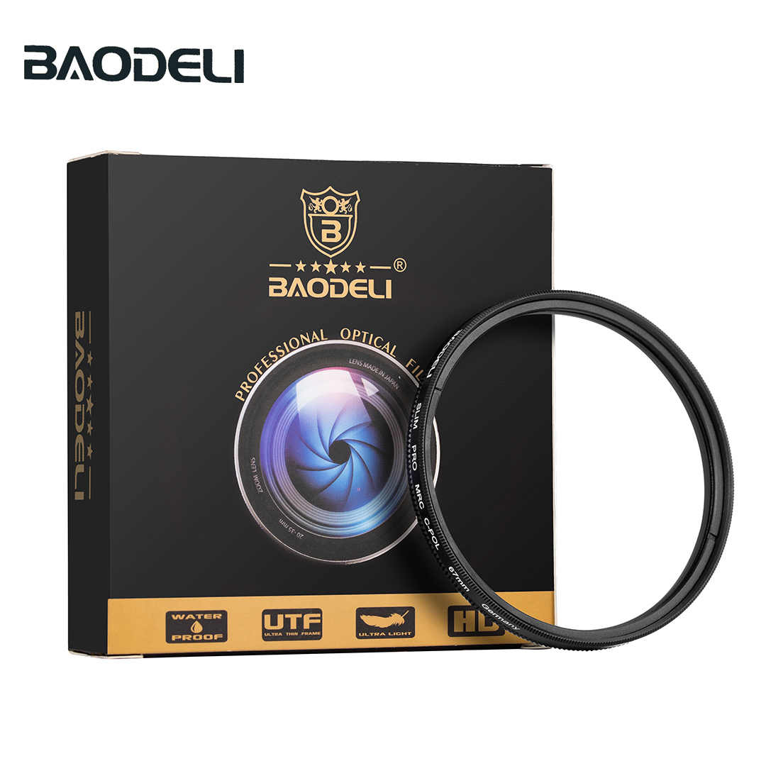 BAODELI Filtro Polarizador Cpl Polarisatie Filter 37 40 5 43 46 49 52 55 58mm 62 67mm 72 77 82 mm For Camera Canon Nikon Sony in Camera Filters from Consumer Electronics