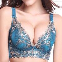 Primavera 2017 nuovo elenco raccogliere la biancheria intima registrabile femminile super confortevole e sexy reggiseno rosso ricamo chiusura Furu del seno