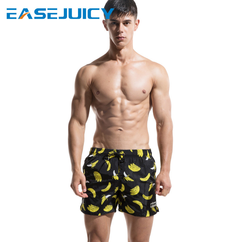 New   board     shorts   men bathing suit quick dry swimsuit briefs hawaiian bermudas loose trunks liner surfing plavky briefs jogger