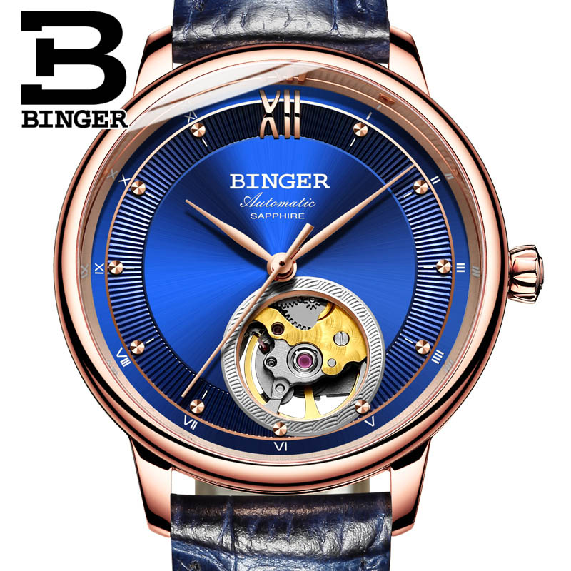 Ultra-thin Japan 9015 Automatic Watch Women Luxury Leather Sapphire Waterproof Mechanical Watches Skeleton Lady Elegant Watches ultra luxury 2 3 5 modes german motor watch winder white color wooden black pu leater inside automatic watch winder