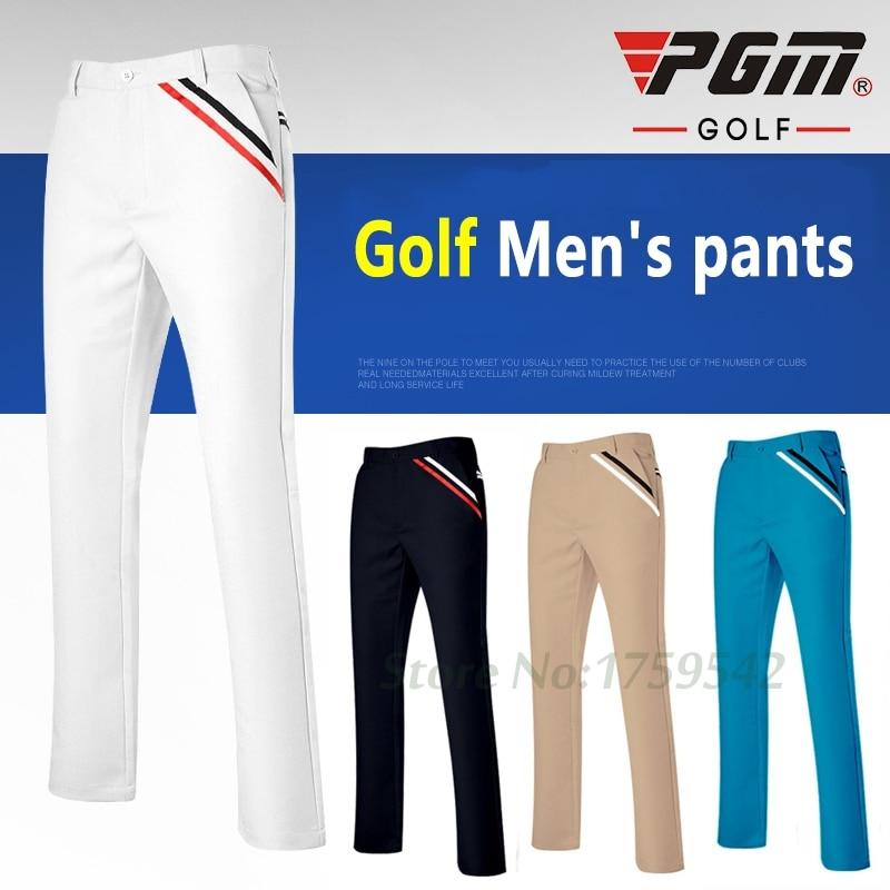 ใหม่ PGM กอล์ฟกางเกงผู้ชายเสื้อผ้าฤดูใบไม้ร่วงสูงยืดหยุ่นกางเกงแห้งเร็วบางกางเกงขนาดบวก XXS 3XL 98% โพลีเอสเตอร์