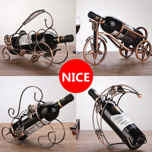 New Creative Metal Wine Rack Artwork Wine Holder Creative Wine Bottle Stand Practical Decoration Bracket