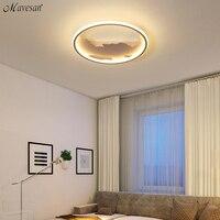 Круглый светодиодный потолочный фонари светодиодные лампы для гостиной Спальня Studyroom дома Deco110V/220 В Белый/Черный Потолок лампа