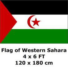 Флаг Западной Сахары 120x180 см polyester полиэстер большие флаги и растяжки Национальный флаг страны баннер