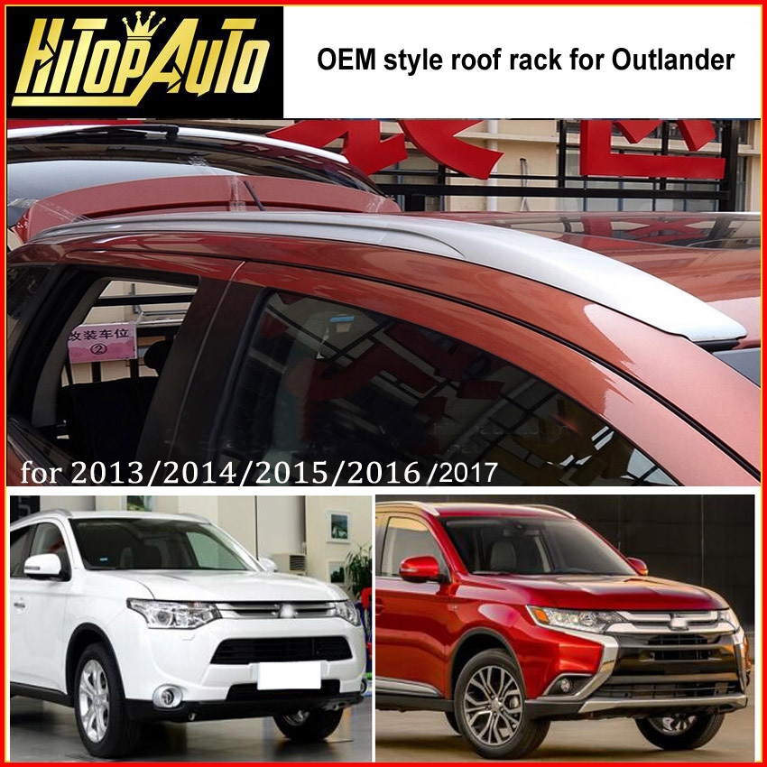 roof rack roof rail bar for Mitsubishi Outlander 2013 2014 2015 2016 2017 two colors fix