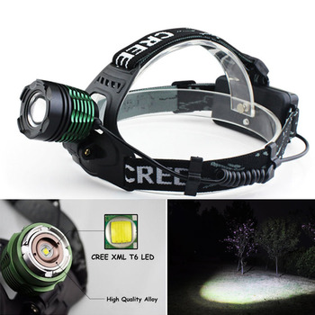 Waterproof XML T6 2400Lm Zoom LED 18650 Headlight Headlamp Head Lamp Light Zoomable Adjust Focus For Bicycle Camping Hiking