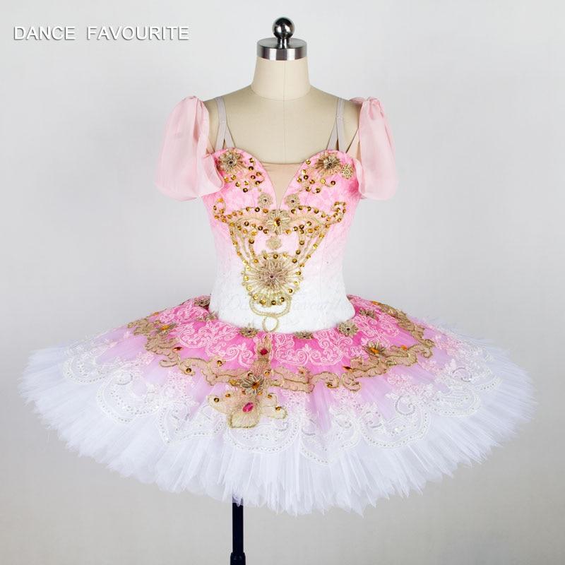 ombre gradient color professional ballet tutu customer size made women & girl pancake tutu stage performance ballet tutu
