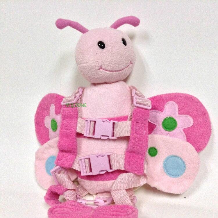Приятель для того, чтобы держать 2-в-1 Детские накладной Рюкзак Детские поводья для От 1 до 3 лет вокруг - Цвет: pink bee