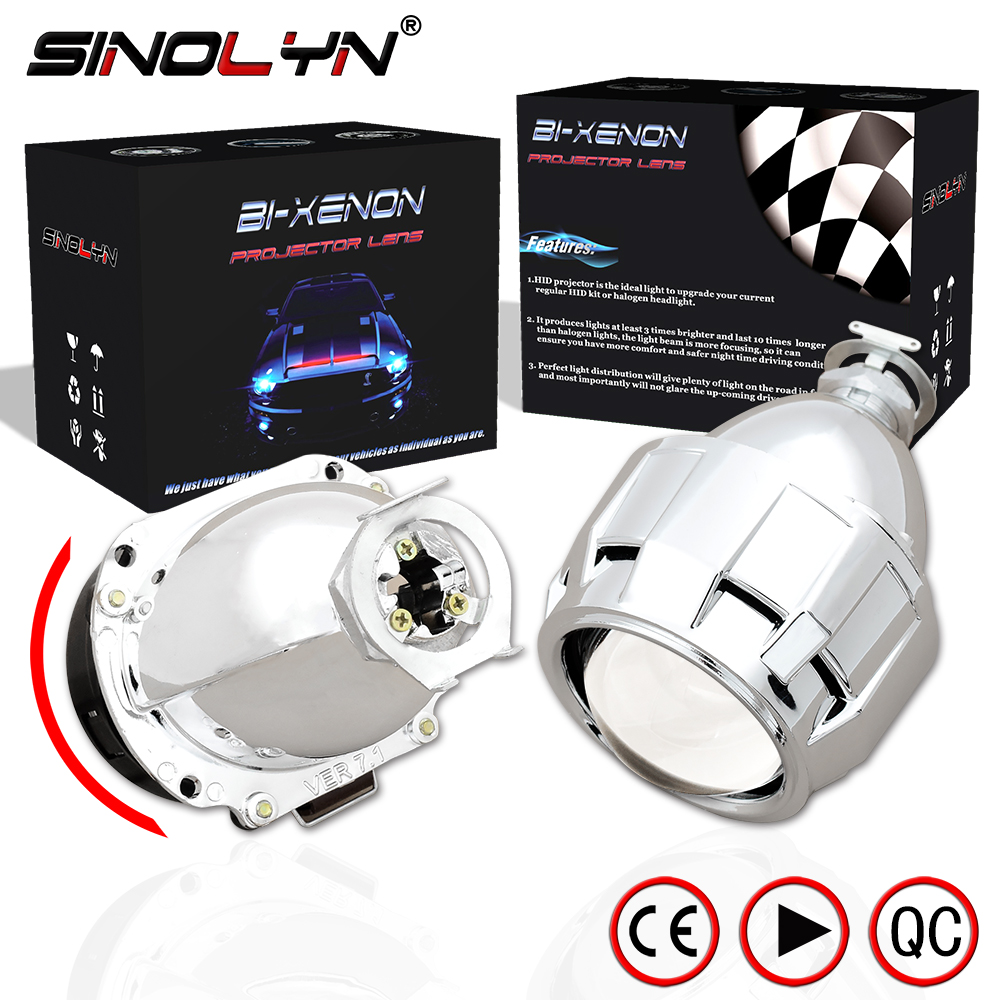 Sinolyn Automobiles Upgrade Mini 2 5 7 1 Version HID Bi xenon Projector Lens H1 Headlight