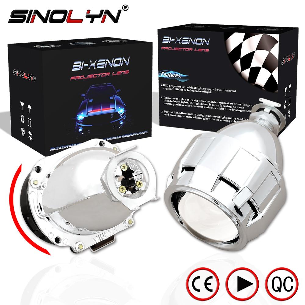 Sinolyn Automobiles Mise À Niveau Mini 2.5 ''7.1 Version HID objectif de projecteur bi xénon H1 Phare Rénovation H4 H7, Super Lumineux Clair
