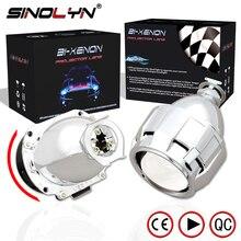"""Sinolyn Automobiles Upgrade Mini 2.5"""" 7.1 Version HID Bi xenon Projector Lens H1 Headlight Retrofit H4 H7, Super Bright Clear"""