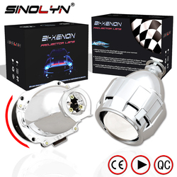 Sinolyn Automobiles Upgrade Mini 2.5'' 7.1 Version HID Bi xenon Projector Lens H1 Headlight Retrofit H4 H7, Super Bright Clear