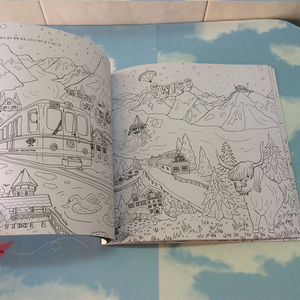 Image 5 - 64 pages Around The World Colouring Book Secret Garden Coloring Book For adults children Relieve Stress Graffiti Drawing Book