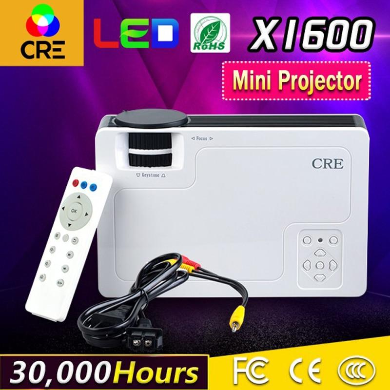Treu Cre X1600 Hd 800*480 P 1000 Lumen Led Lcd Mini Heimkino Video Projektor Kostengünstige Ausreichende Versorgung Lcd-projektoren