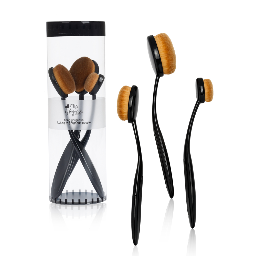 Miss Gorgeous Pro Face Toothbrush Oval Makeup Brush Set Foundation BB Cream Flawless Base Powder Blusher Beauty Cosmetic Brushes new arrive makeup brush face powder blusher toothbrush foundation oval brushes cosmetic tool