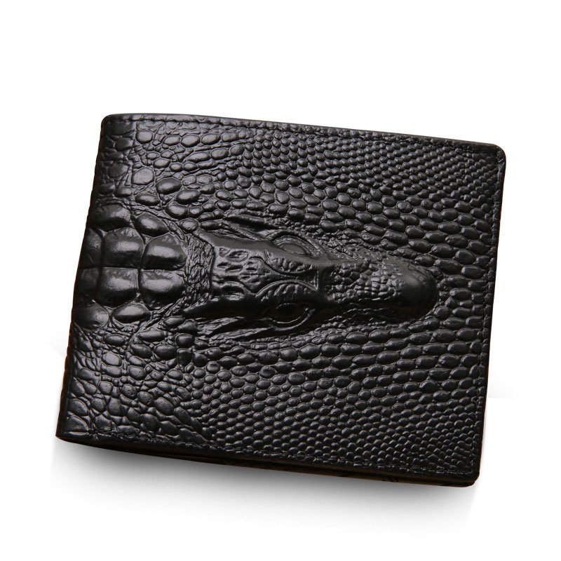 NEW Men Wallet Genuine Leather pockets portfolio Vintage Crocodile head Purses Credit Card Holders Dollar Wallet Clutch Purse