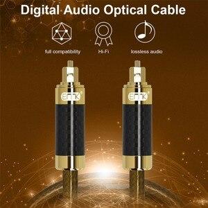 Image 2 - Cabo de áudio od8.0 1m 2m 3m 5m de optilal toslink spdif de alta resolução do escudo s/pdif da fibra do carbono de emk