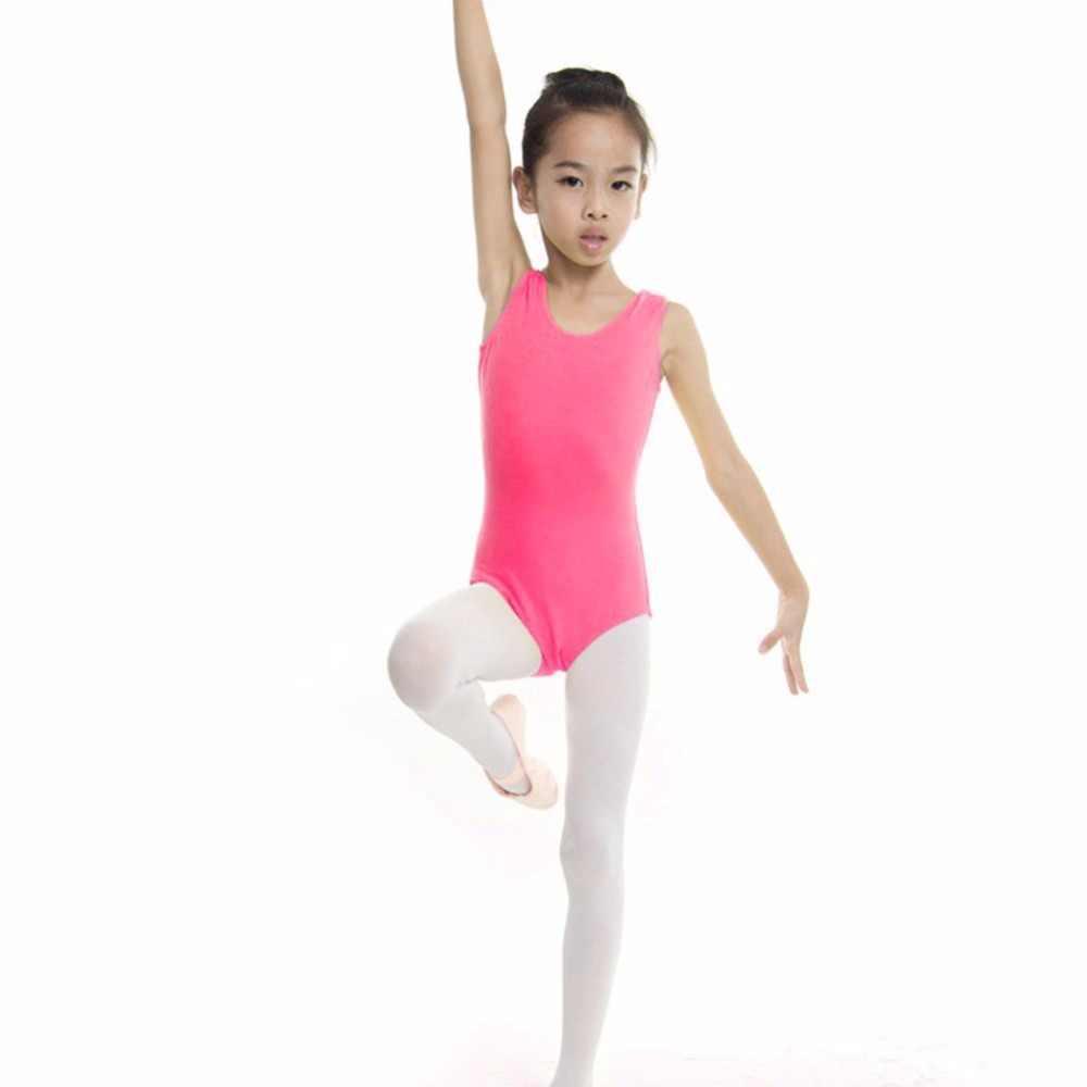 Детское танцевальное гимнастическое трико с юбкой, однотонное танцевальное платье-пачка, стрейчевое боди, топ для девочек, футболка, спортивный костюм для женщин